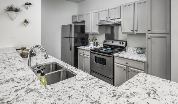Spacious kitchen at Eastover Ridge Apartments in Charlotte, NC.